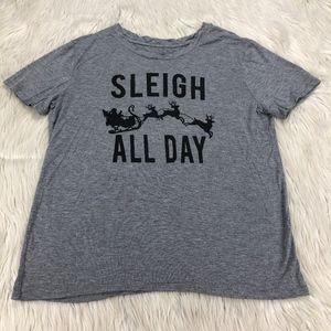 Fifth Sun Sleigh All Day Santa Christmas Tee